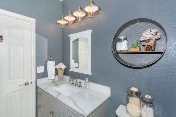 Guest bath lighting